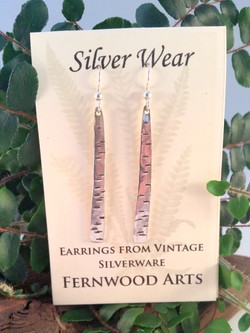 Earrings made from Fork Tines