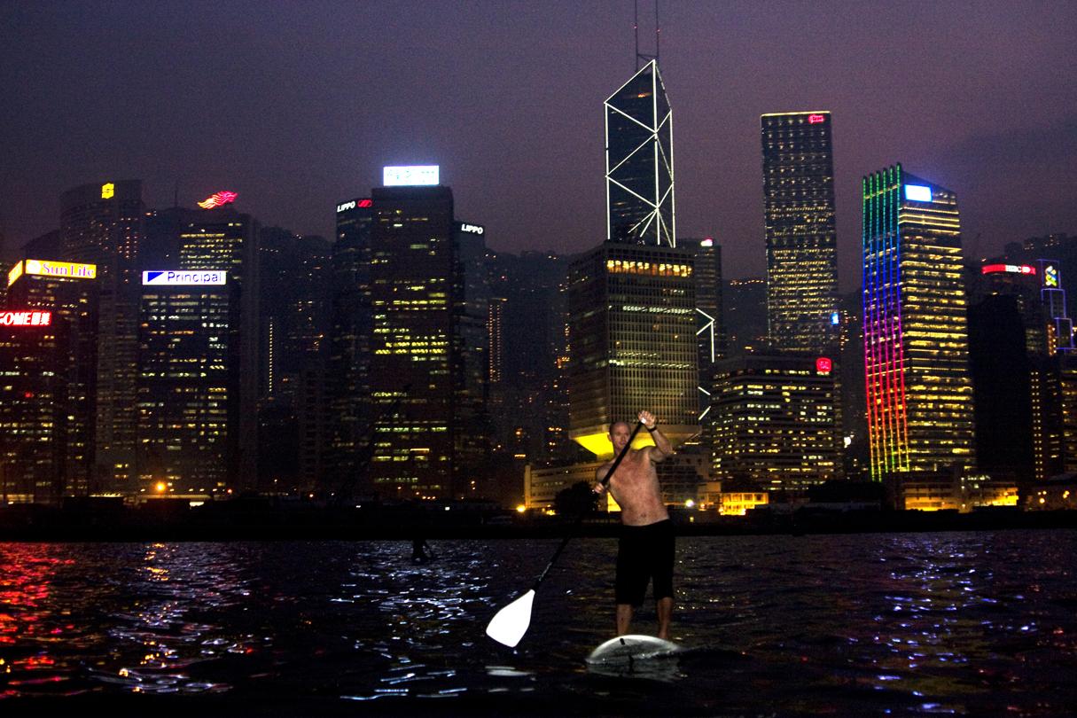 Paddling in Hong Kong