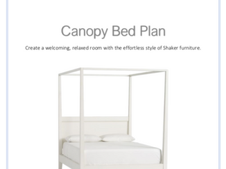 Our Canopy Bed Plans