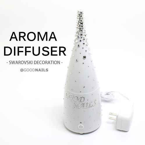 アロマ ディフューザー プレゼントに最適なコンパクトな卓上アロマをスワロフスキーで彩りました♪デコ プレゼント