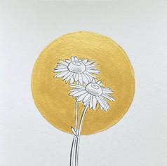 Geboortebloem April - Madeliefje door Carole Matthijsse