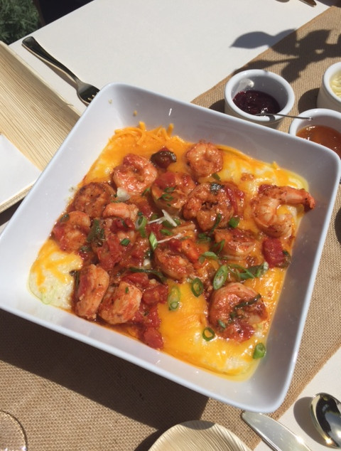 Oh my goodness -- shrimp & grits, it