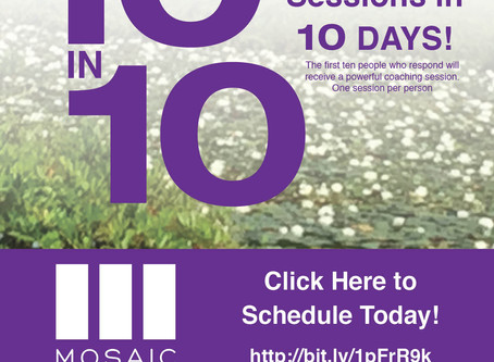 10 FREE Coaching Sessions in 10 DAYS!