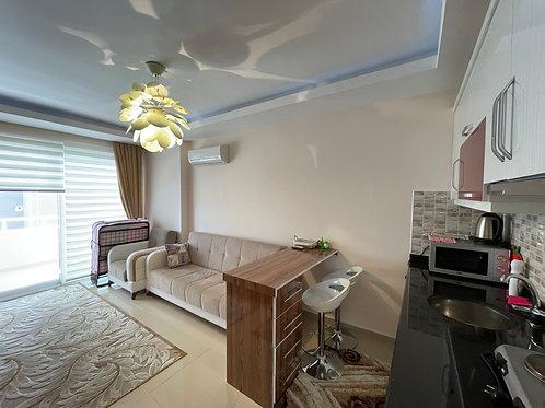 Меблированные однокомнатные апартаменты в Махмутларе