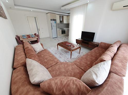 Огромные (78 м2) меблированные апартаменты-люкс 1+1 (Махмутлар)