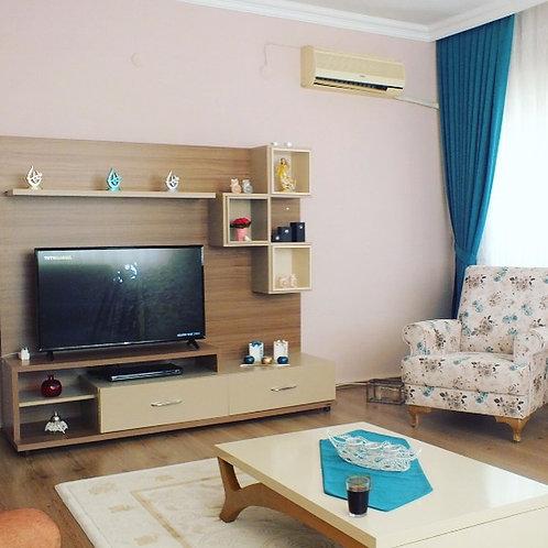 Меблированная квартира 2+1 в районе пляжа Клеопатры