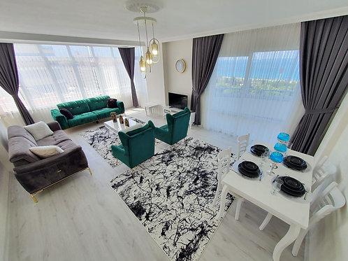 Меблированные апартаменты 2+1 с отдельной кухней, вид на море