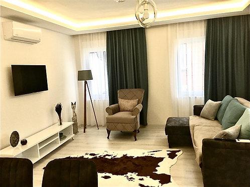 50 м до моря! Красивые апартаменты 2+1 в Махмутларе, новый дом
