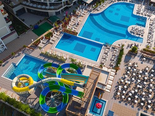 Отель 5 звёзд, 1 линия, эталонный песчаный пляж, Сиде