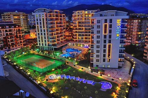 Апартаменты 2+1 в резиденции с инфраструктурой пятизвёздочного отеля (Тосмур)