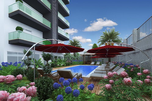 Апартаменты 1+1 в новом жилом комплексе отельного типа (Авсаллар)