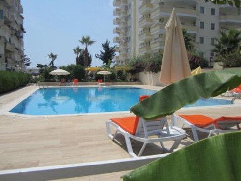 45 евро в сутки: 2+1 на 1 линии моря (Махмутлар), комплекс с собственным пляжем