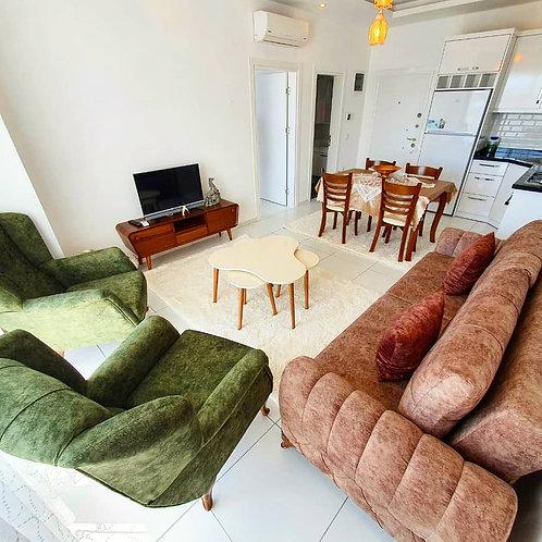 Просторные апартаменты 1+1 с мебелью и техникой