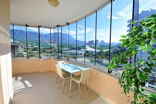 Апартаменты 2+1 с мебелью, техникой и панорамными видами с огромных балконов!