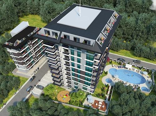 Стильные квартиры в Махмутларе в беспроцентную рассрочку