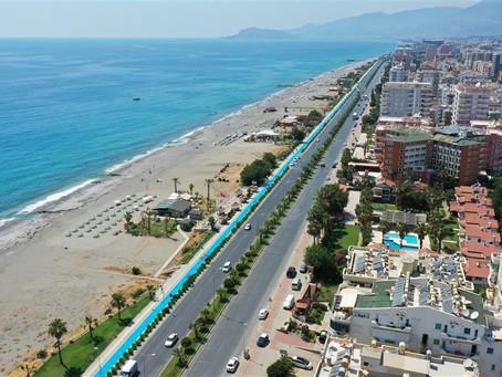 В Аланье завершилось строительство 30-километровой велодорожки вдоль моря!