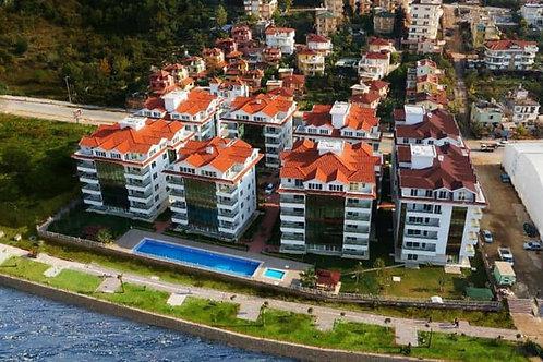 Мебелированные апартаменты 2+1 на берегу горной реки Димчай (Кестель)