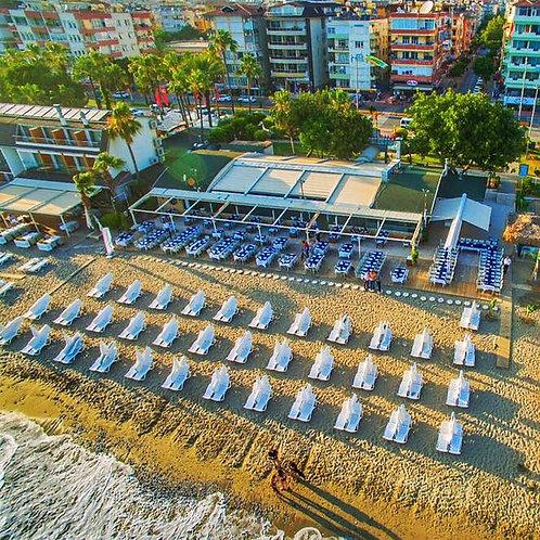 Отель 3* в центре Аланьи (150 м до пляжа)