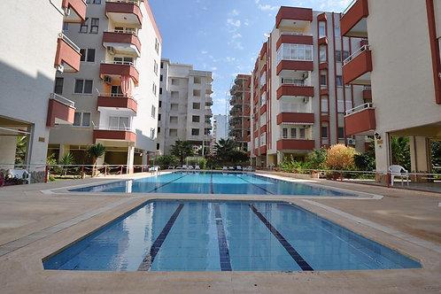 20 евро в сутки: 1+1 в комплексе с бассейном и садом (Махмутлар)