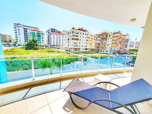 Новые апартаменты 1+1 в Махмутларе (хамам, сауна, тренажёрка, бассейн)