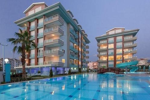 Меблированные апартаменты 1+1 на 1 линии моря (Кестель)