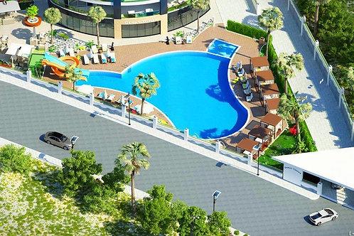 Стильные апартаменты 1+1 увеличенной площади, комплекс отельного типа
