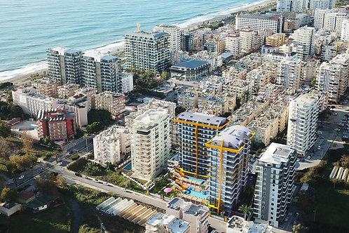 Роскошные новые квартиры в Махмутларе: 150 м от моря, рассрочка 25 месяцев!