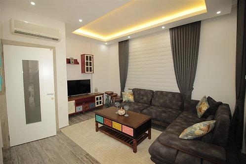 Новые апартаменты 2+1 на 1 линии моря в центре Аланьи