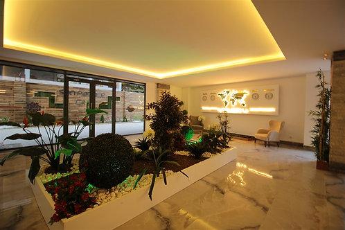 Апартаменты 1+1 в центре Аланьи, новый комплекс с сауной и зимним бассейном!