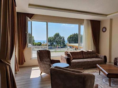Апартаменты 3+1 на 1 линии моря с новой мебелью и техникой