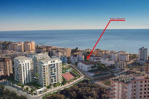 Апартаменты-люкс 2+1 в 150 м от моря (Тосмур)