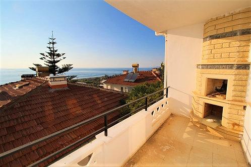 Вилла 2+1 с видом на море и камином на балконе (Демирташ)