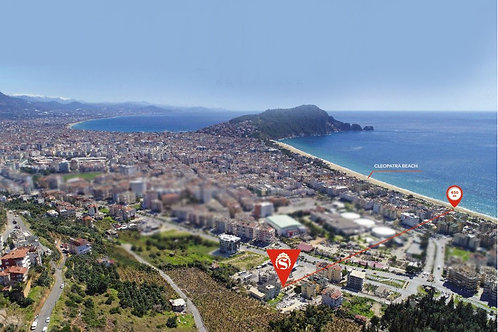 Апартаменты 1+1 и 5+1 у пляжа Клеопатры