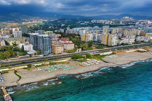 Апартаменты 2+1 с панорамным видом моря (ВИДЕО!)
