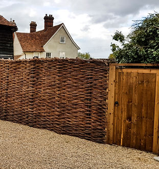 Willow Fencing with Gate