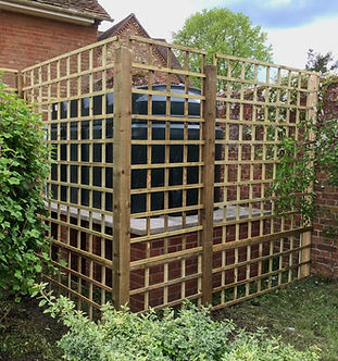 Wooden Garden Screen