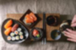 sushi-set-nigiri-and-sushi-rolls-42BXQWT