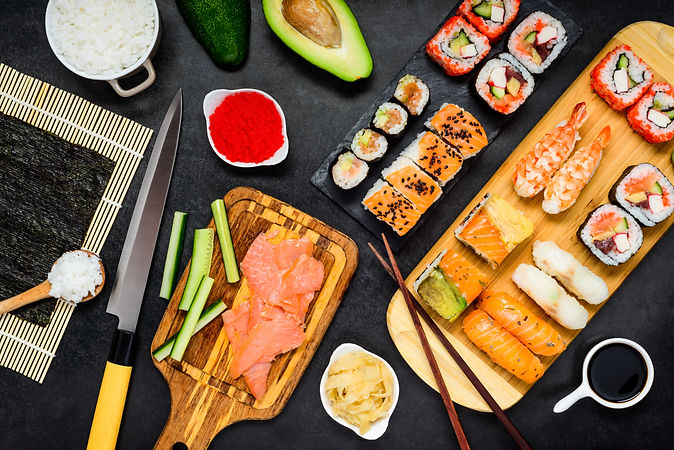 sushi-with-cooking-ingredients-PJK9LSQ.j