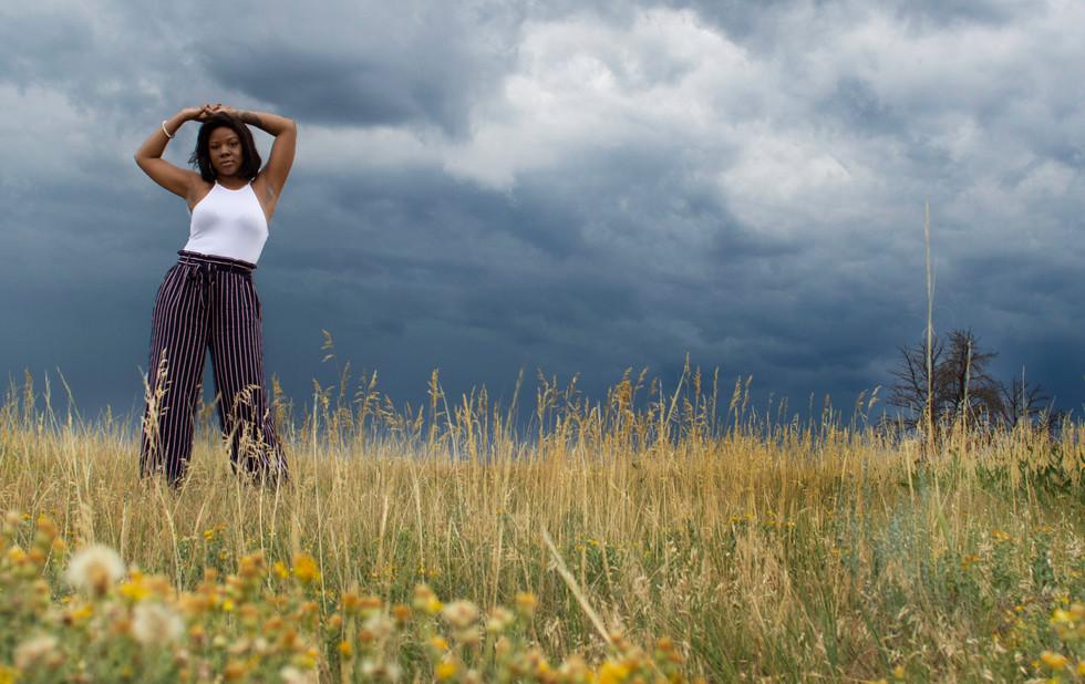 portrait in a meadow