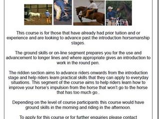 David Stuart Horsemanship Clinic - 25th and 26th October