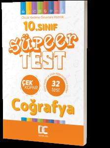 10.SINIF COĞRAFYA SÜPER TEST