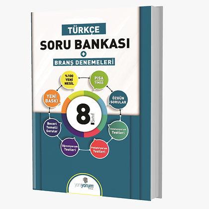1.Dönem LGS 8.Sınıf Türkçe Soru Bankası Yeniyorum Yayınları