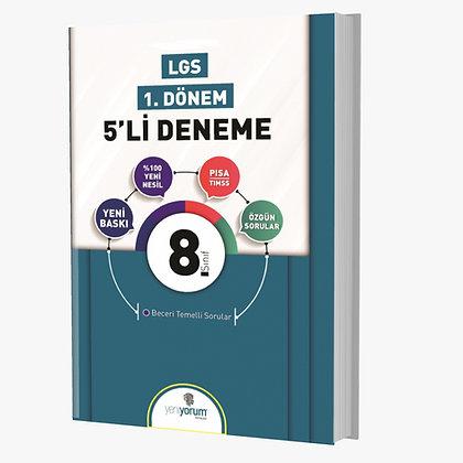1.Dönem LGS 8.Sınıf 5 li Deneme Yeniyorum Yayınları