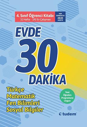 4.Sınıf Evde 30 Dakika Öğrenci Kitabı