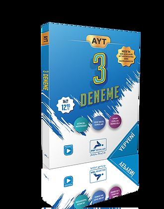 3 lü AYT Deneme Paketi Yeni Müfredata Göre  Paraf Yayınları