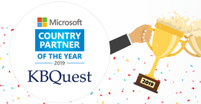 KBQuest recognized as 2019 Microsoft Country Partner of the Year