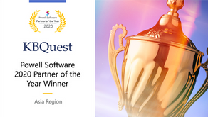 KBQuest named the Powell Software 2020 Partner of the Year winner for the Asia region