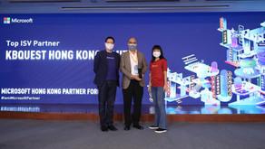 KBQuest named Winner of Microsoft Hong Kong 2021 Top ISV Partner Award