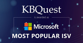 KBQuest named as Microsoft's Most Popular ISV partner of the year