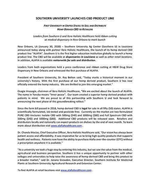 CBD Ribbon Cutting Press Release for 1.3
